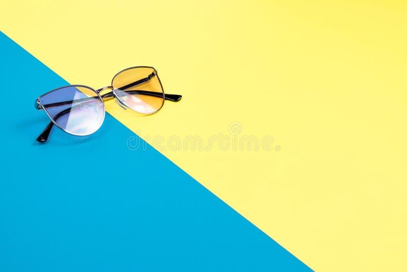 Poj?cie wakacje Odg?rny widok na okulary przeciws?oneczni fotografia stock
