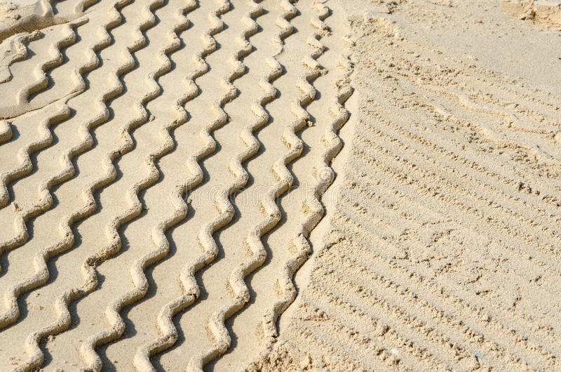 Pojazdów ślada w piasku, Dubaj zdjęcia royalty free