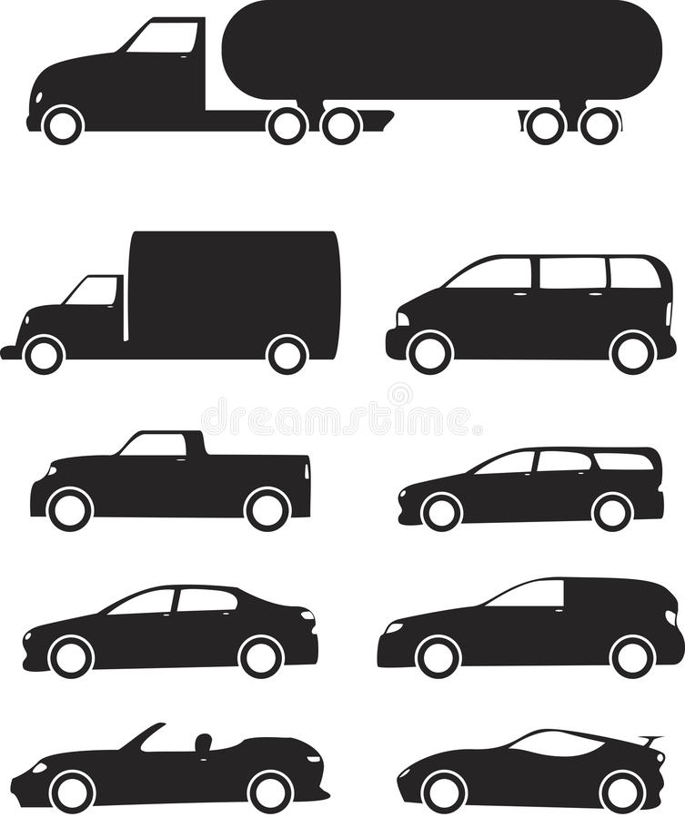 Pojazdów Ikony Set ilustracja wektor