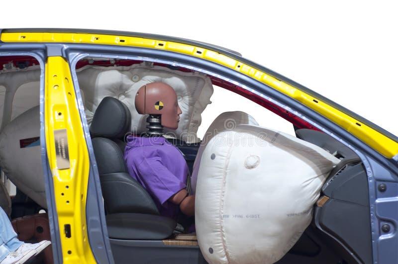 Pojazd który robi trzaska testowi zdjęcie royalty free