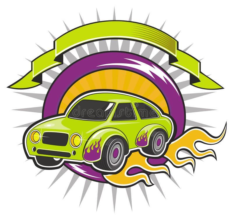 Download Pojazd z sztandarem ilustracja wektor. Obraz złożonej z pojazd - 11565310
