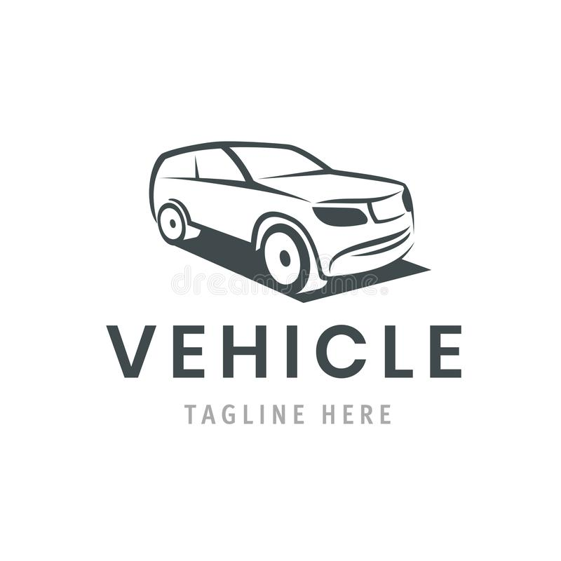 Pojazdu loga szablon Samochodowa ikona dla biznesowego projekta Czynsz, naprawa, sklepowy garażu pojęcie ilustracji