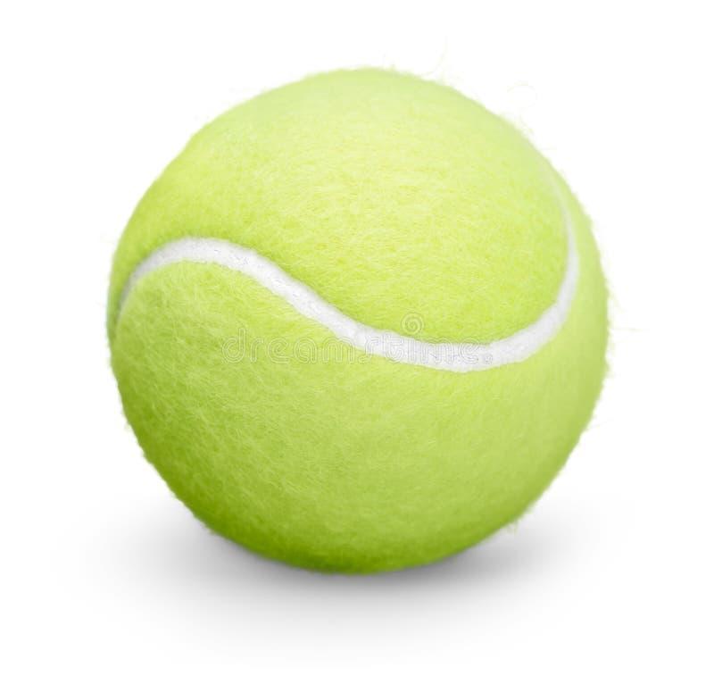 Pojedyncza tenisowa piłka odizolowywająca na białym tle fotografia royalty free