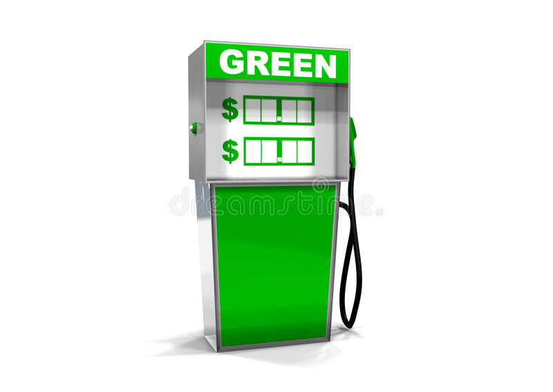 pojedyncza zieleni benzynowa pompa obrazy royalty free