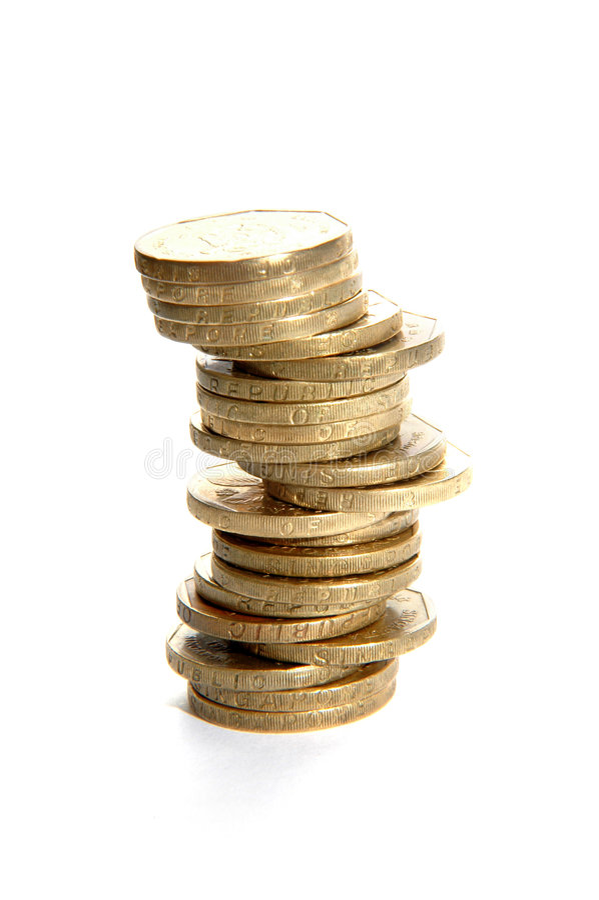 pojedyncze stertę monet zdjęcie royalty free