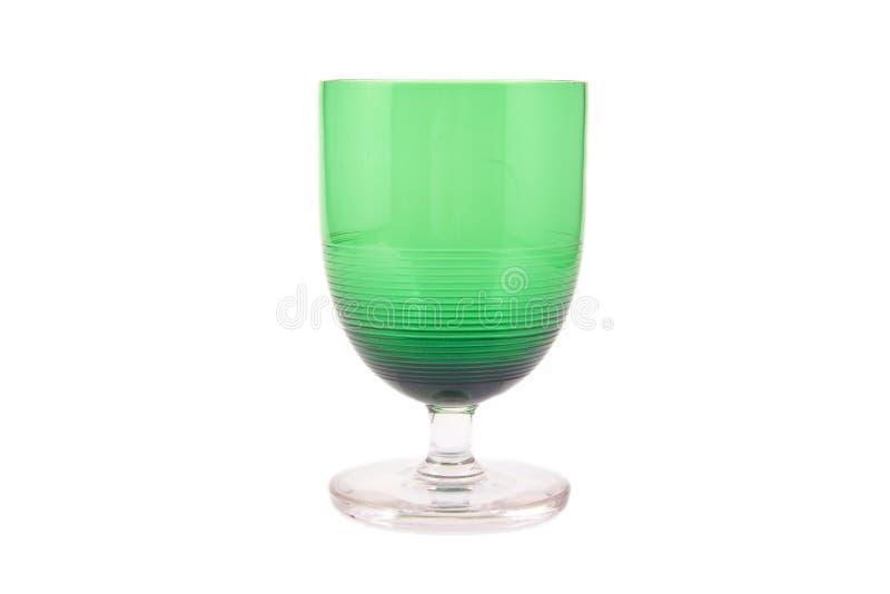 Pojedynczego rocznika zielony szkło na białym tle obrazy stock