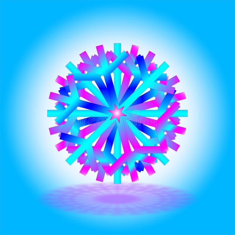Pojedynczego skyblue purpurowy zmrok - błękitni boże narodzenia grają główna rolę z cieniem na dnie, na błękitnym białym tle, jak ilustracji