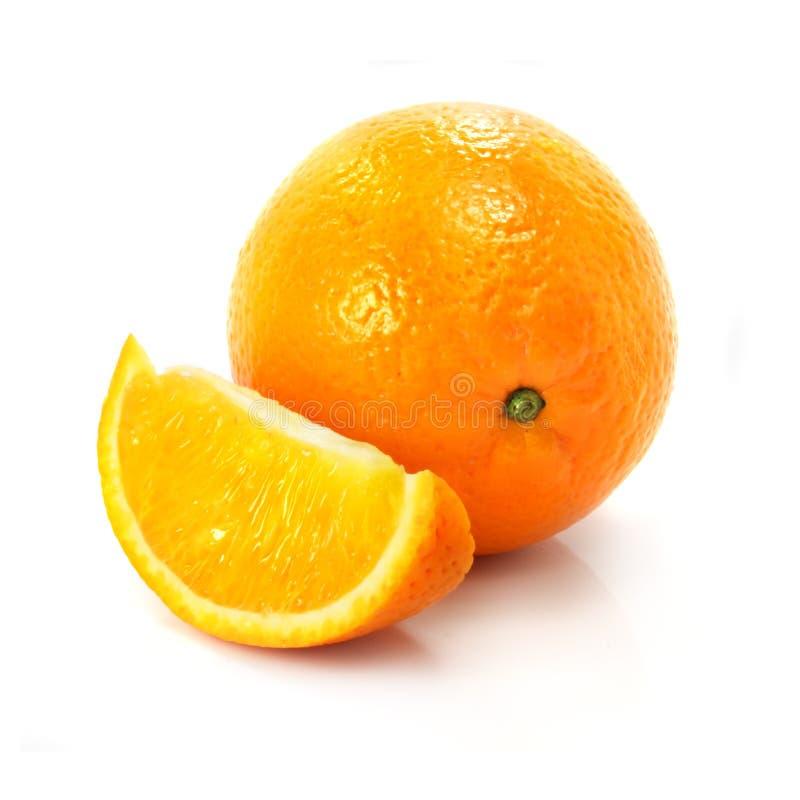 pojedynczy świeżych owoców pomarańczowy dojrzały white zdjęcie royalty free