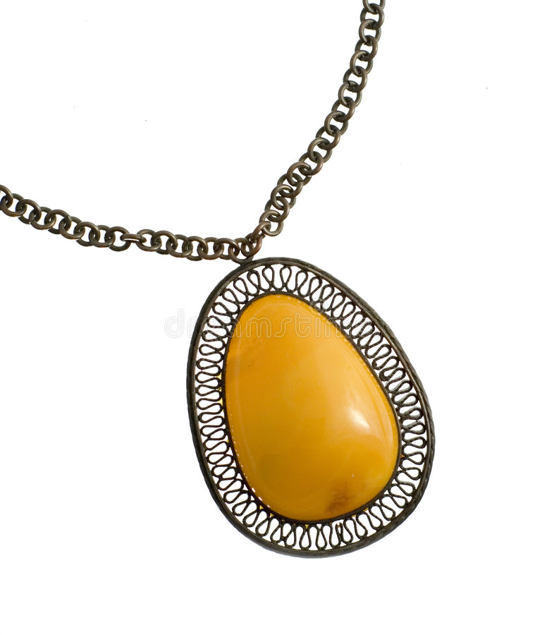 pojedynczy amber wisiorek zdjęcie royalty free