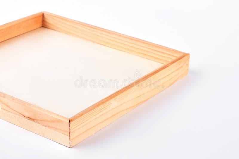 pojedynczy białe tło ramy drewniane obrazy stock