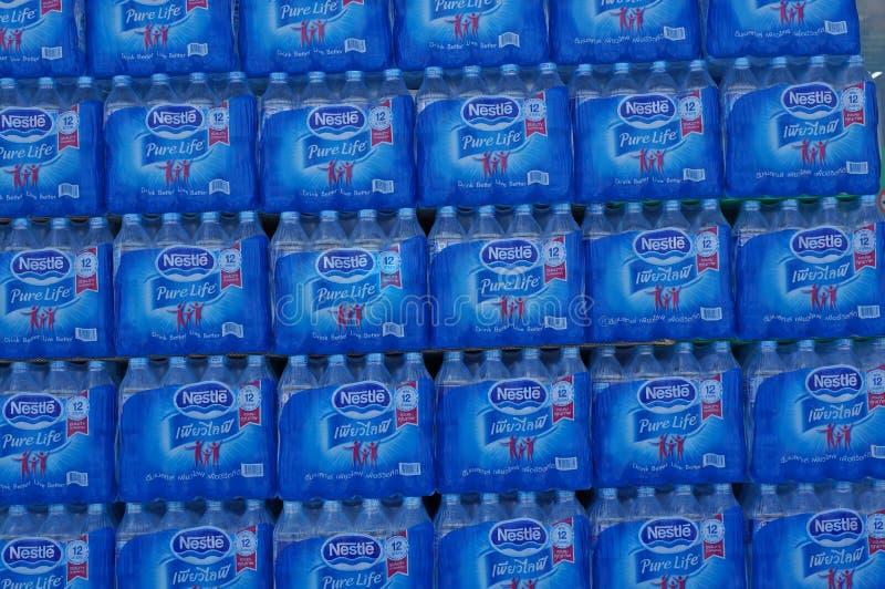 pojedynczy butelkowy white wody fotografia royalty free