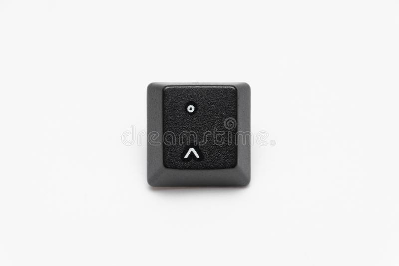 Pojedynczy czarni klucze klawiatura z różnym listu circumflex obraz stock