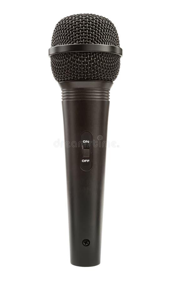 pojedynczy czarny mikrofon obraz stock