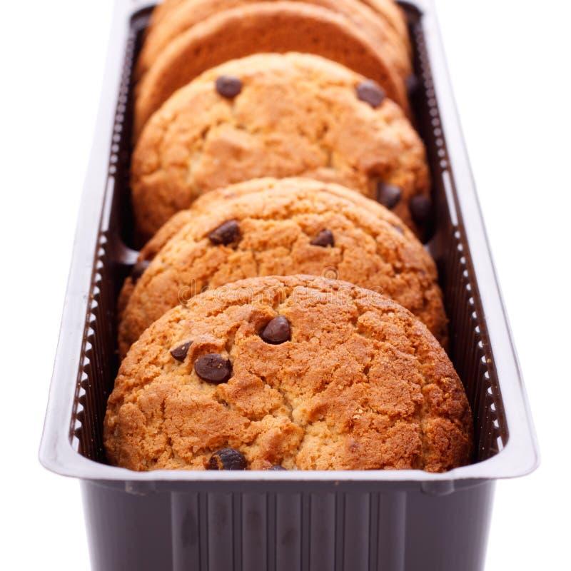 pojedynczy czekoladowi układ scalony ciastka zdjęcie royalty free