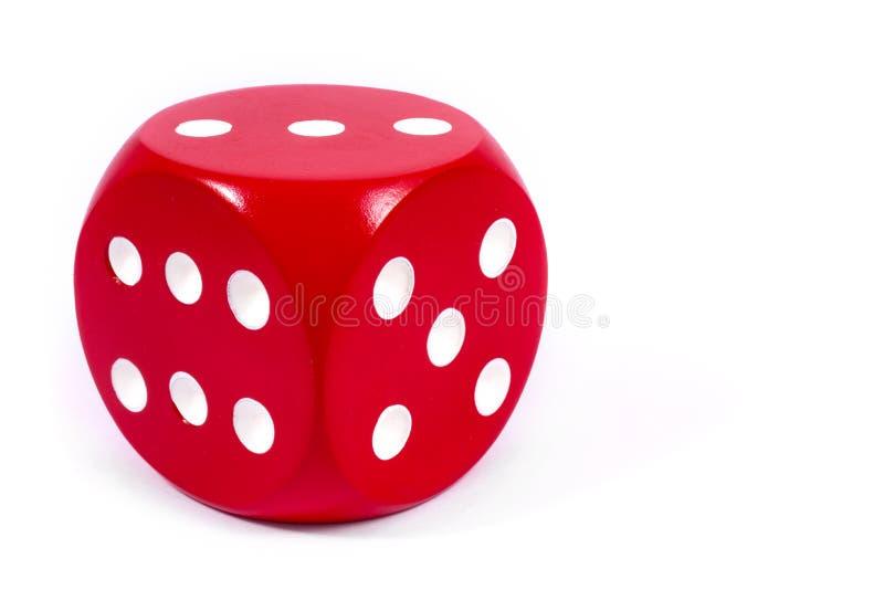 Pojedynczy Czerwoni kostka do gry obraz royalty free