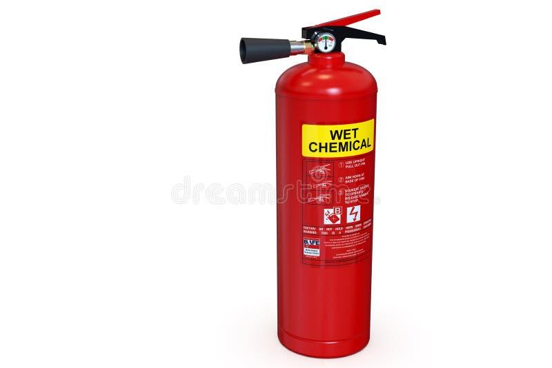 Pojedynczy czerwony chemiczny Pożarniczy gasidło ilustracja wektor