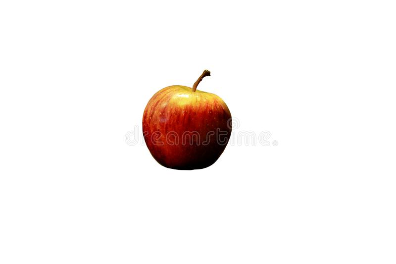 Pojedynczy czerwony jabłko odizolowywający na bielu zdjęcia royalty free