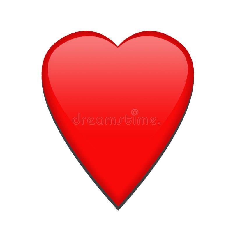 Pojedynczy czerwony serce ilustracja wektor