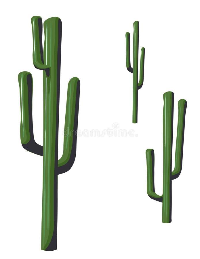 pojedynczy kaktus saguaro ilustracji