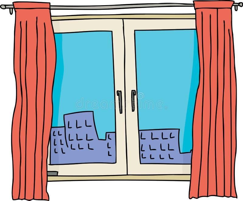 Pojedynczy lufcika okno royalty ilustracja