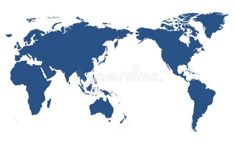 pojedynczy mapa świata ilustracja wektor