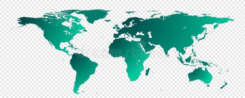 pojedynczy mapa świata ilustracji