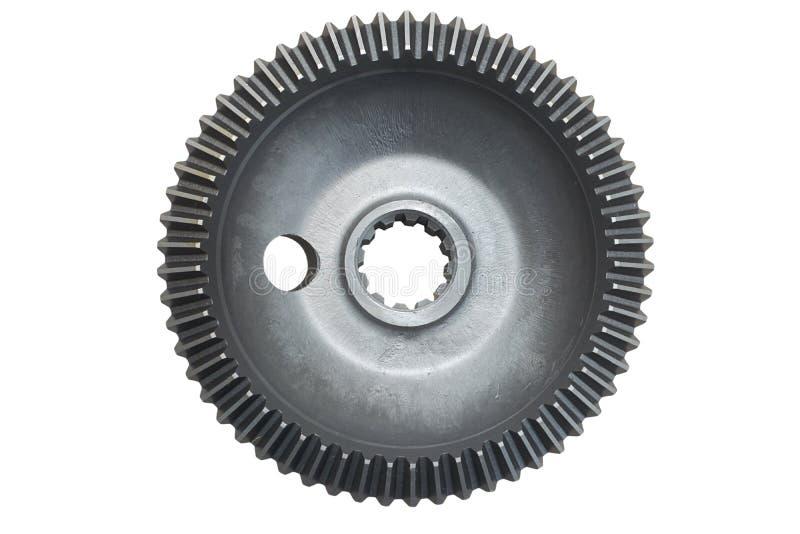Pojedynczy metal przekładni gearbox odizolowywający fotografia stock