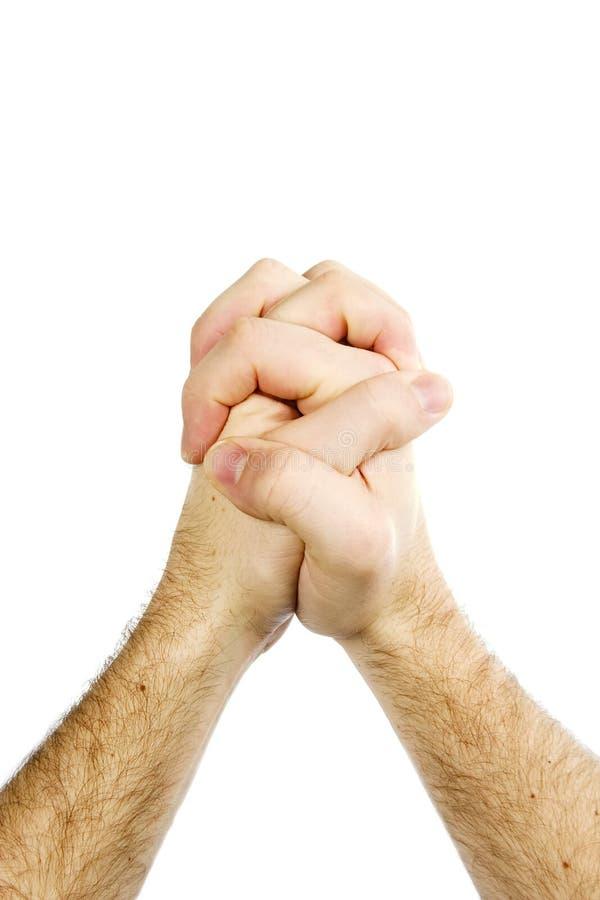 pojedynczy modlitwa rąk fotografia stock