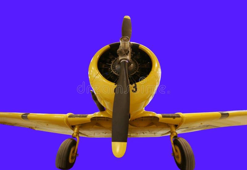 Pojedynczy parowozowy śmigłowy samolot fotografia royalty free