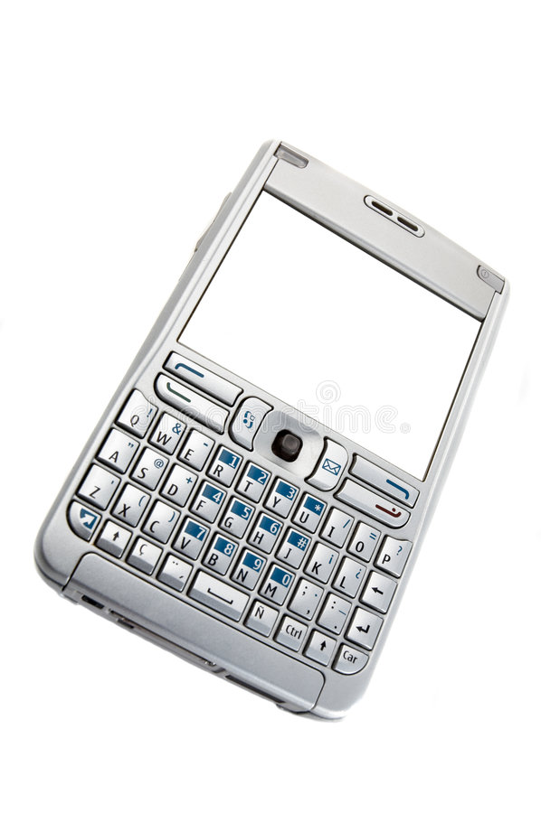pojedynczy smartphone white obrazy stock
