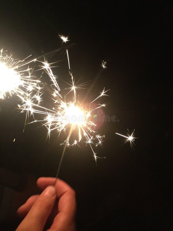 pojedynczy sparkler zdjęcie stock