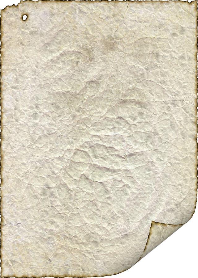 pojedynczy stary rocznik zdławione papier retro zdjęcia stock