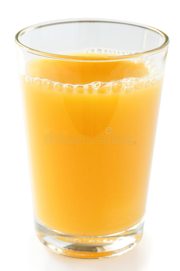 Pojedynczy szkło sok pomarańczowy obraz stock