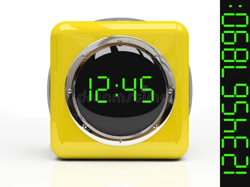 pojedynczy zegarka żółty ilustracja wektor