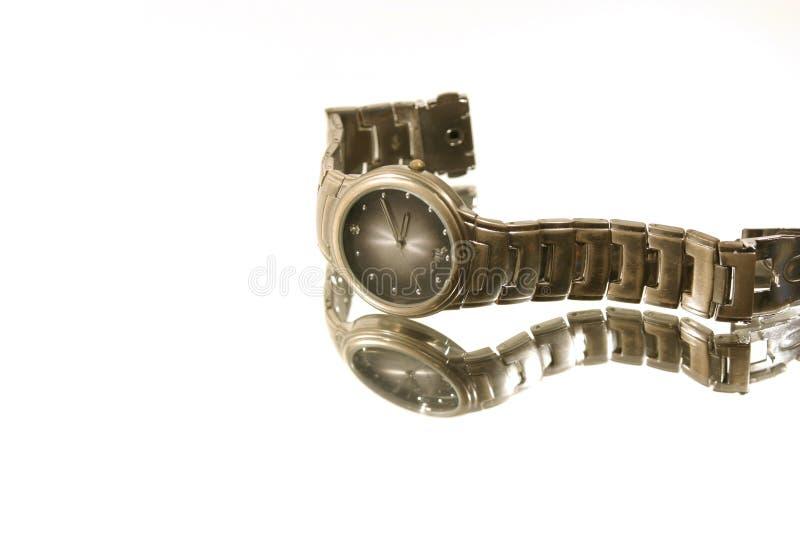 pojedynczy zegarka nadgarstek zdjęcie stock