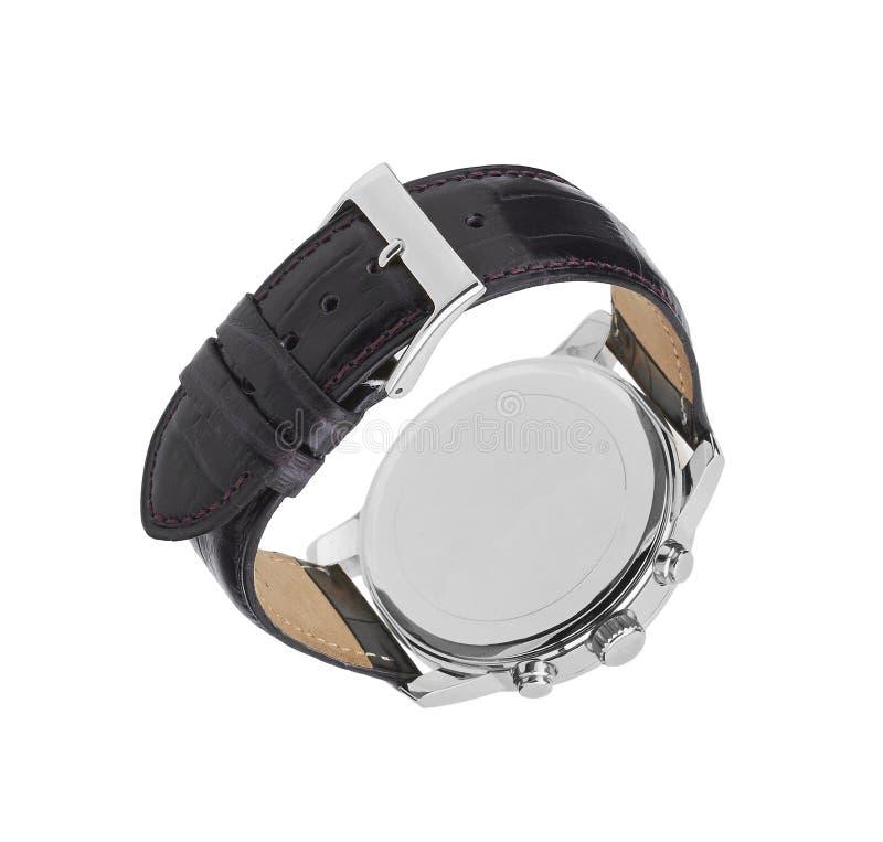 pojedynczy zegarka white obrazy stock