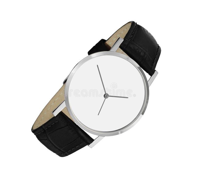 pojedynczy zegarka white obraz royalty free