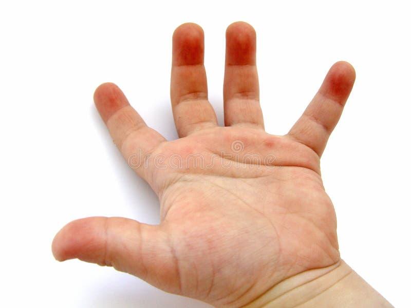 pojkar hand little arkivbild