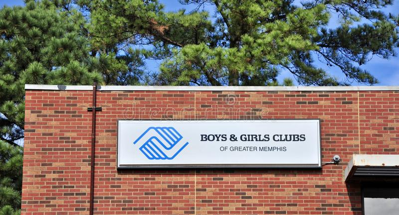 Pojkar och flickaklubba av Memphis, TN fotografering för bildbyråer