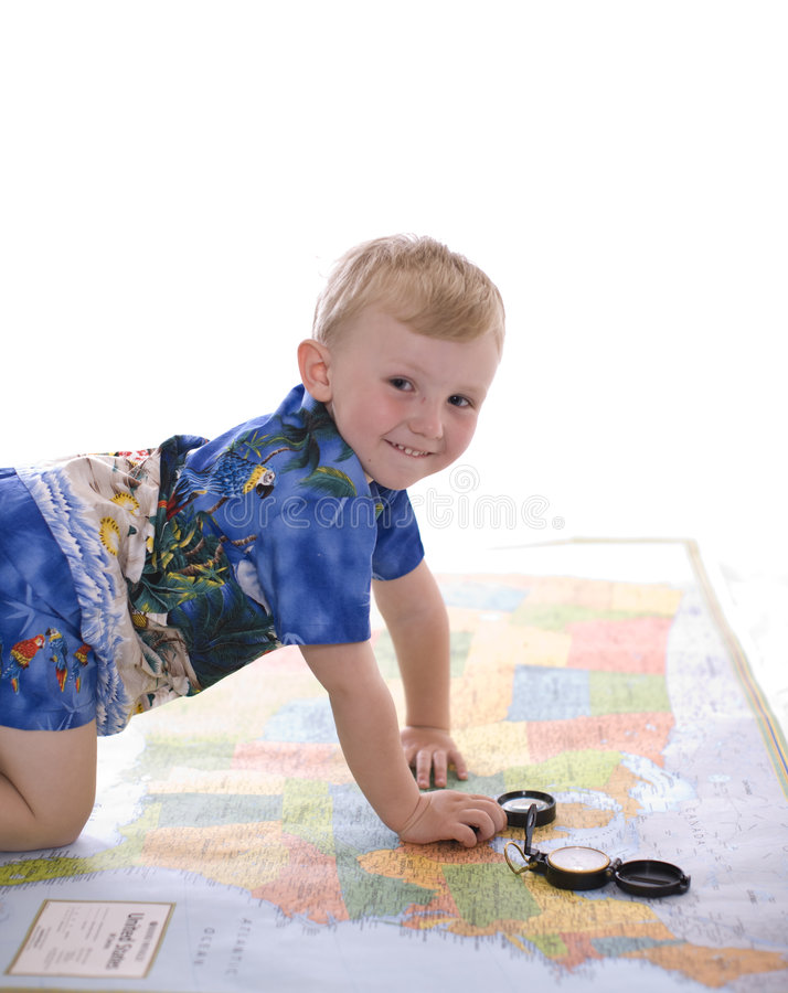 pojkeöversikt arkivbild