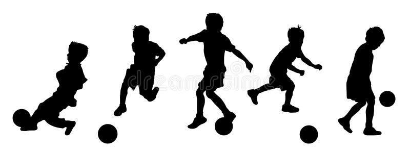 pojkeövningsfotboll stock illustrationer