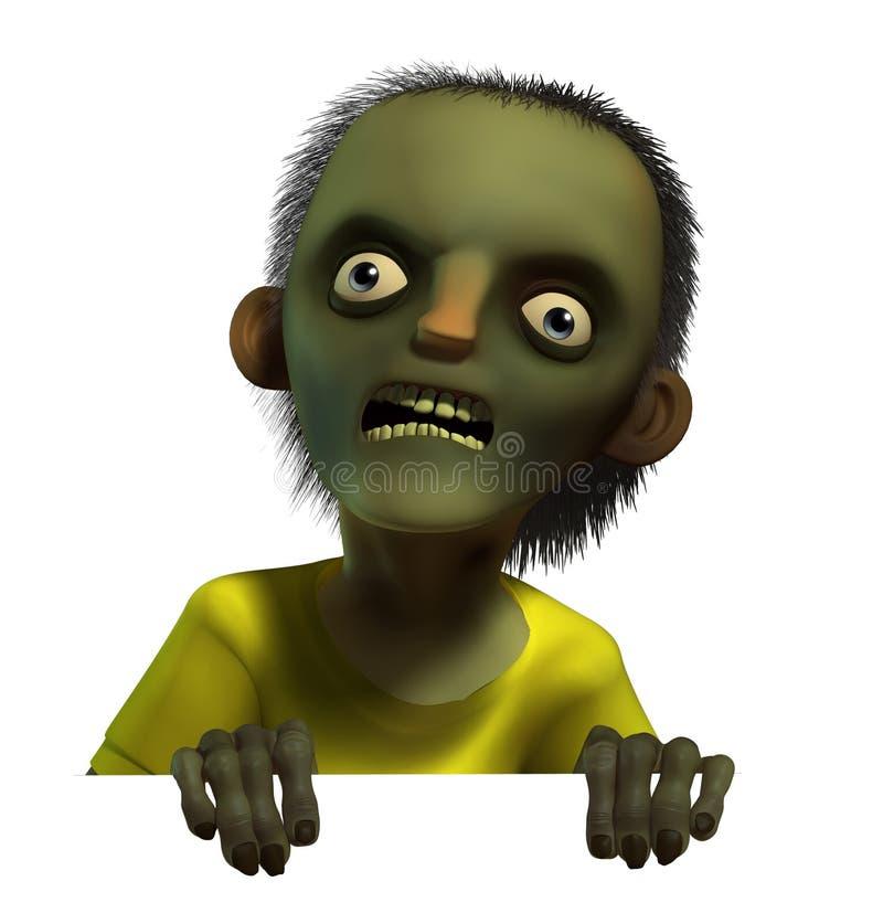 pojke för zombie 3d stock illustrationer