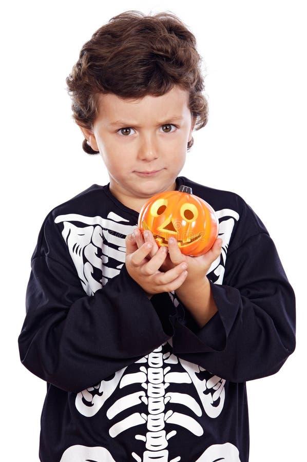 pojke halloween royaltyfri foto