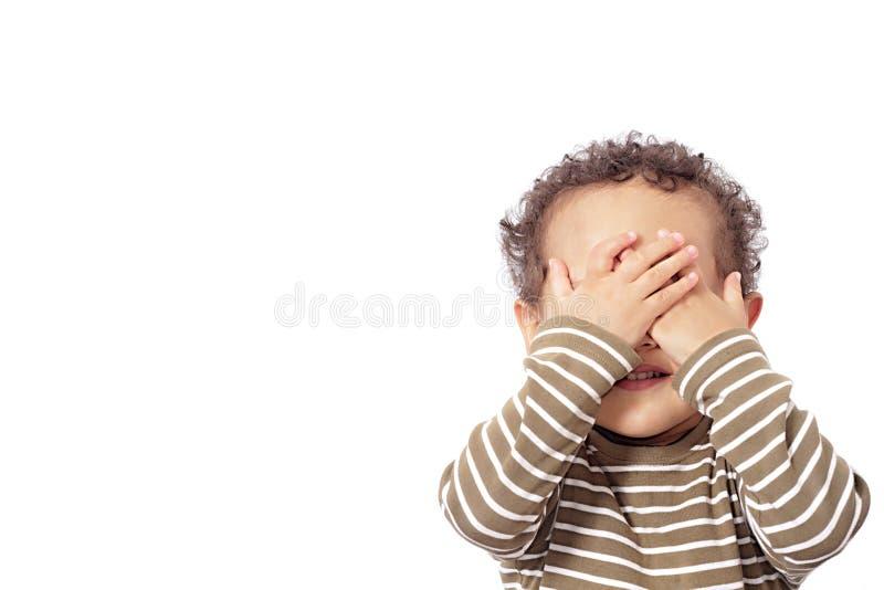 Pojke i armod fotografering för bildbyråer