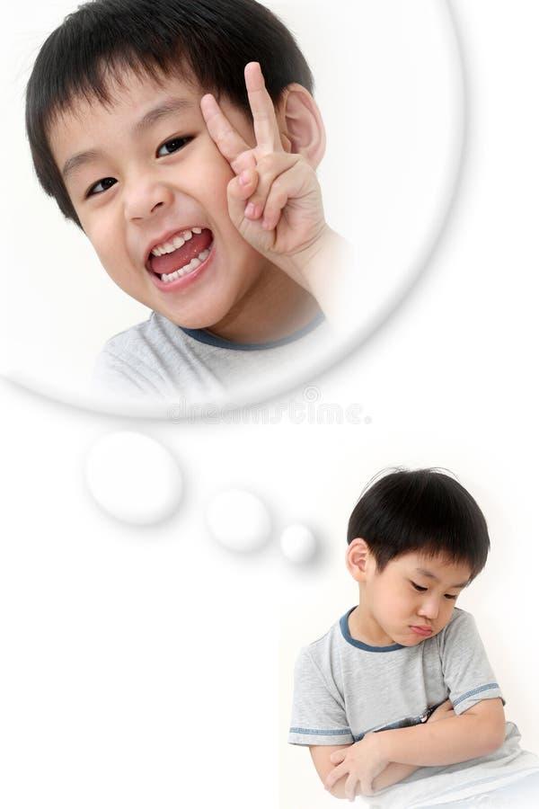 Pojke i handling royaltyfri foto