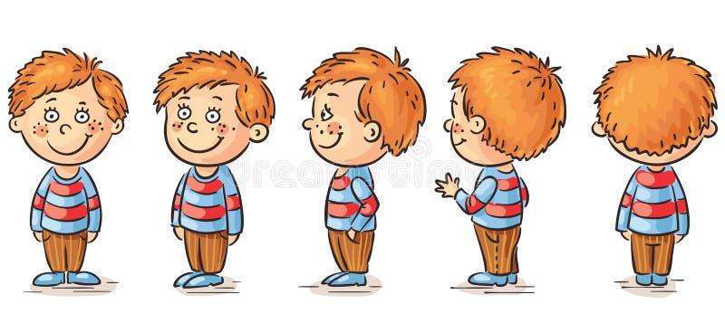 pojke little stock illustrationer