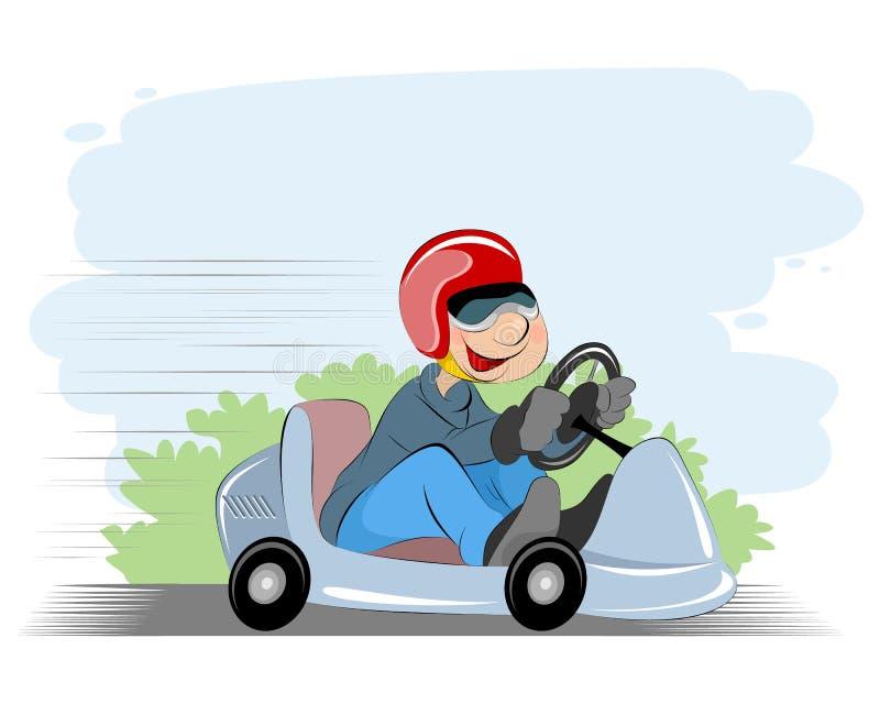 Pojke och bil vektor illustrationer