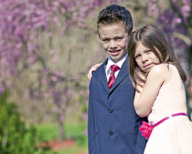 Pojke och flicka royaltyfria foton