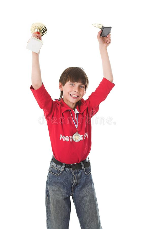 Pojke som segrar i konkurrens