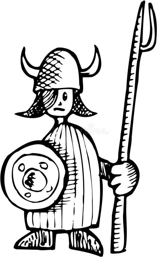 pojke viking royaltyfri illustrationer